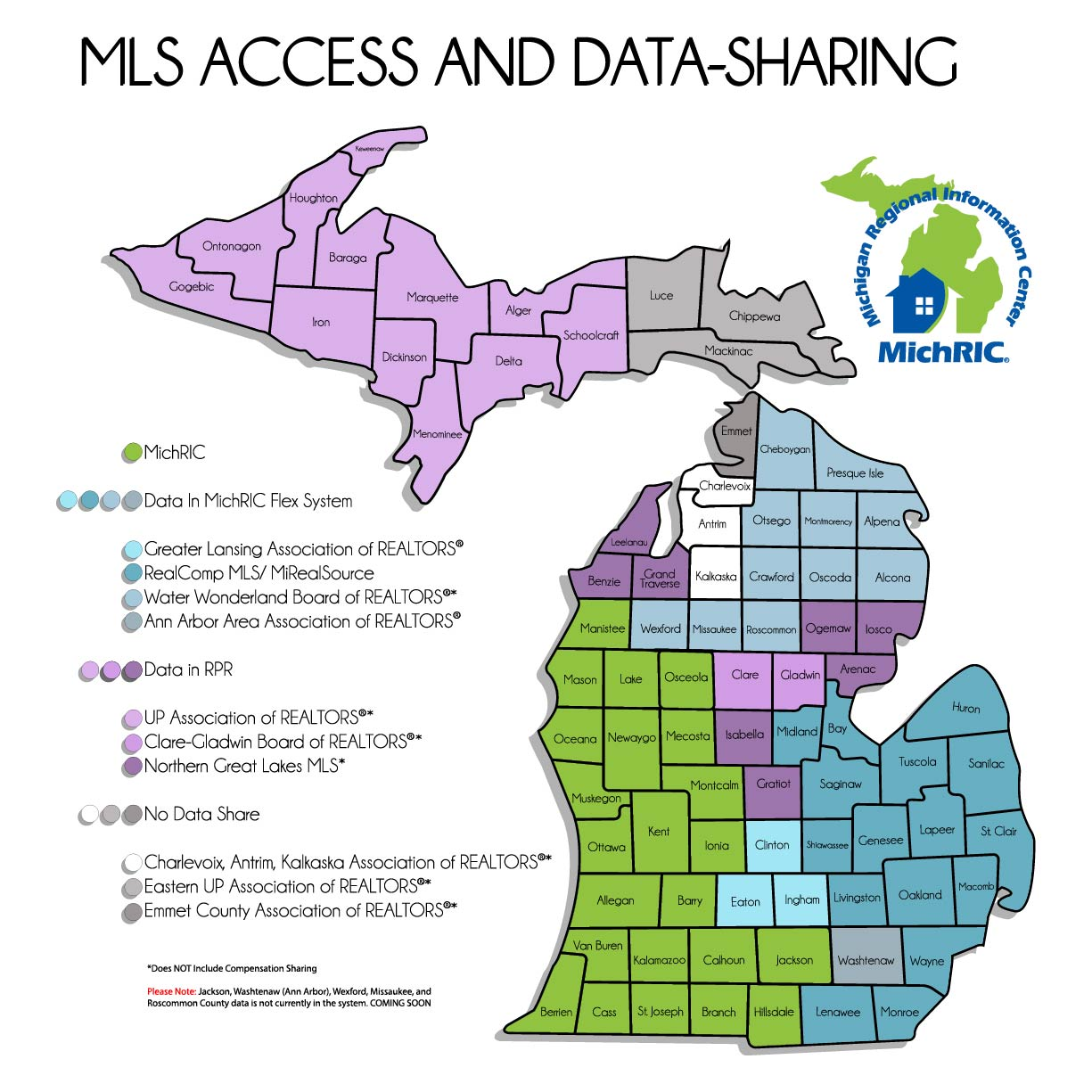 Michigan Map with Background and logo